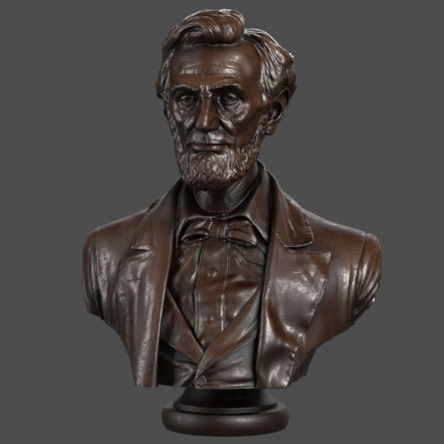 Abraham Lincoln Bust royalty-free 3d model - Preview no. 2