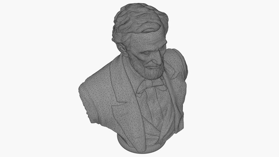 Abraham Lincoln Bust royalty-free 3d model - Preview no. 12
