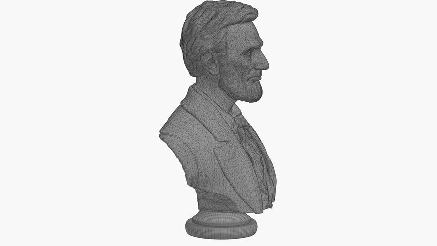 Abraham Lincoln Bust royalty-free 3d model - Preview no. 11