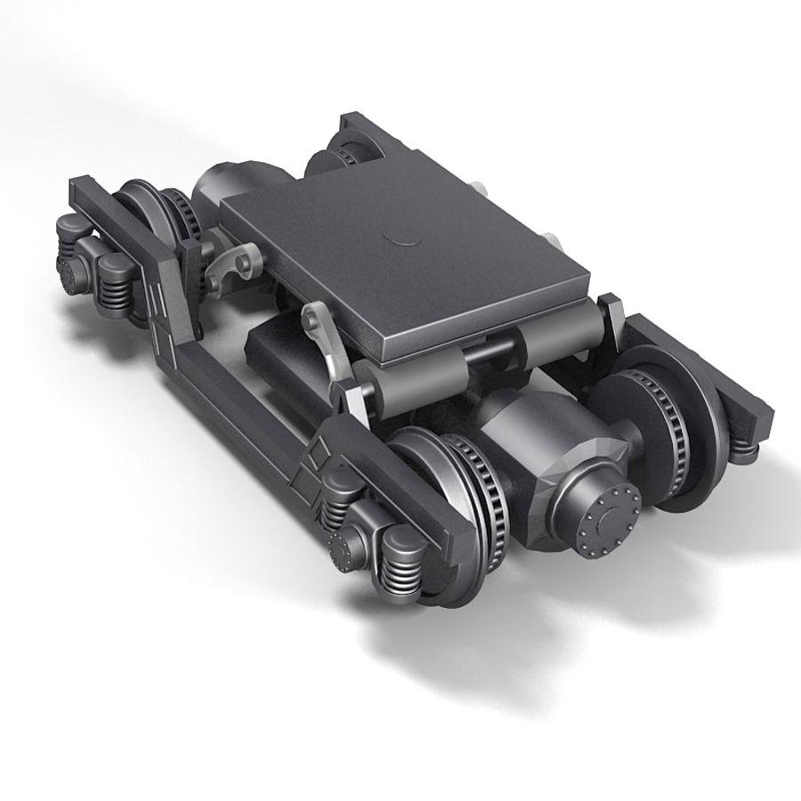 기차 바퀴 royalty-free 3d model - Preview no. 3