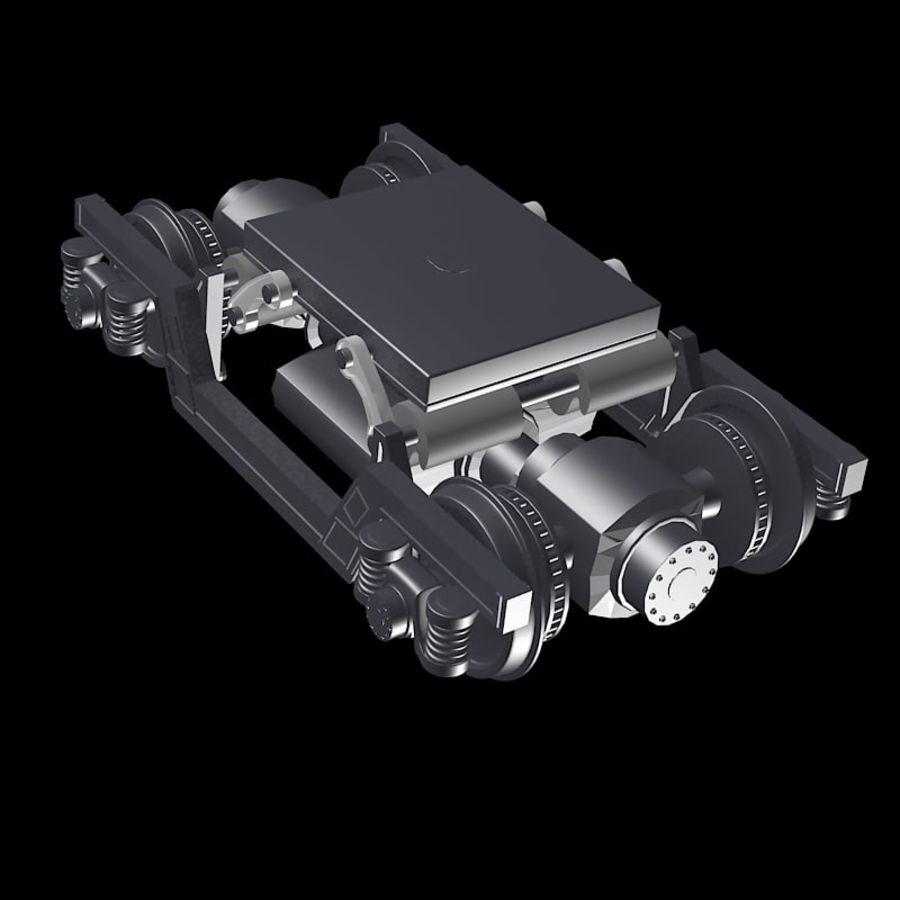 기차 바퀴 royalty-free 3d model - Preview no. 5