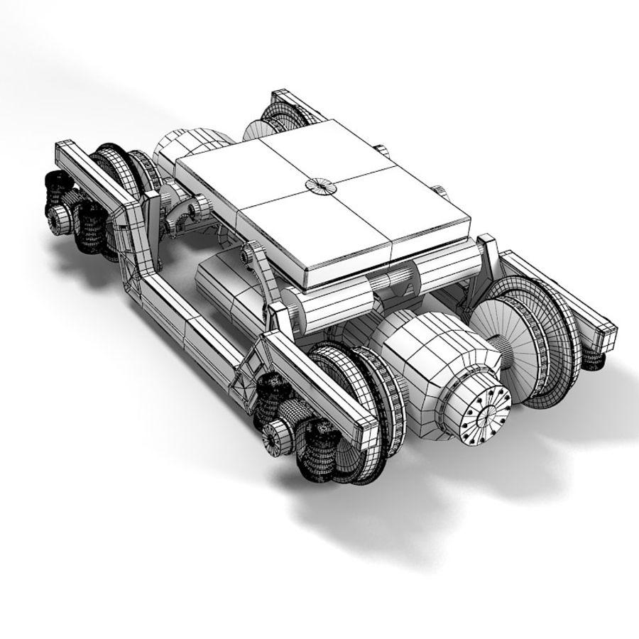 기차 바퀴 royalty-free 3d model - Preview no. 4