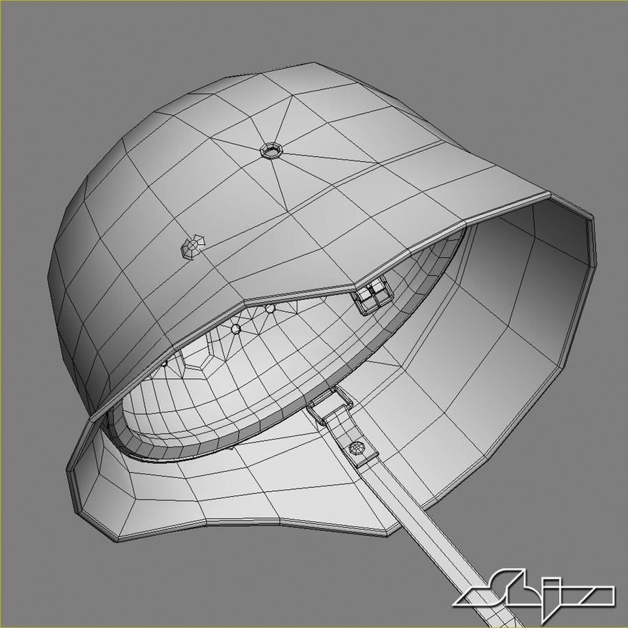 World War 2 German Helmet royalty-free 3d model - Preview no. 9