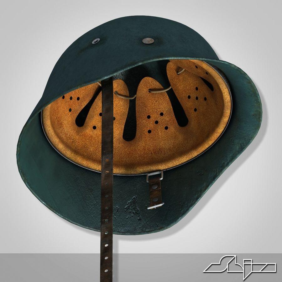 World War 2 German Helmet royalty-free 3d model - Preview no. 7