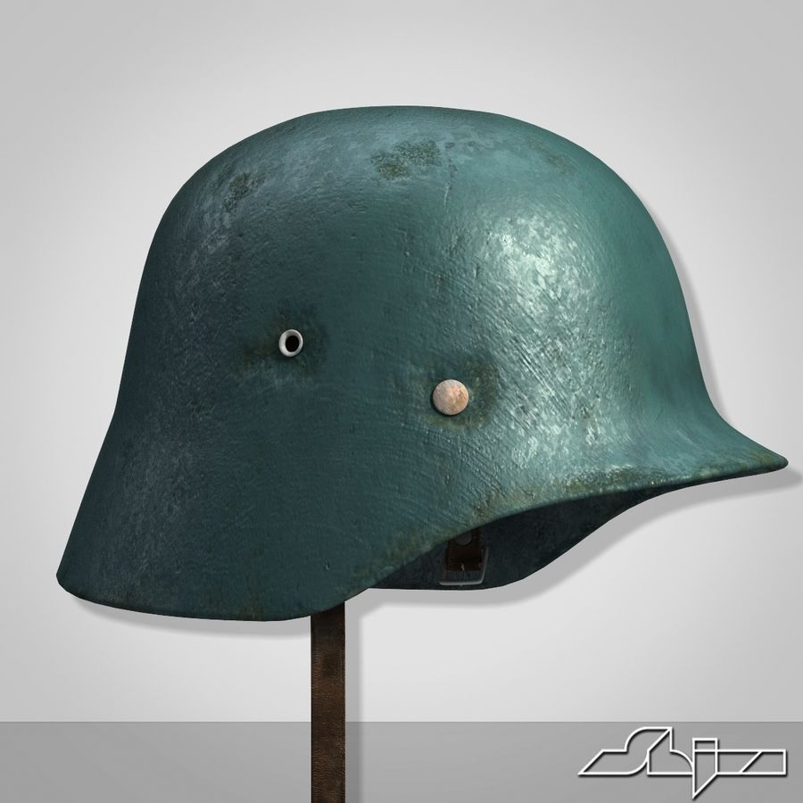 World War 2 German Helmet royalty-free 3d model - Preview no. 4