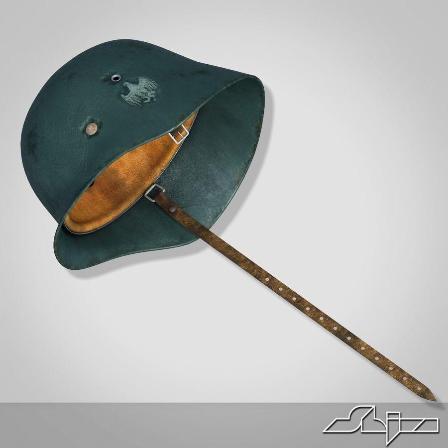 World War 2 German Helmet royalty-free 3d model - Preview no. 2