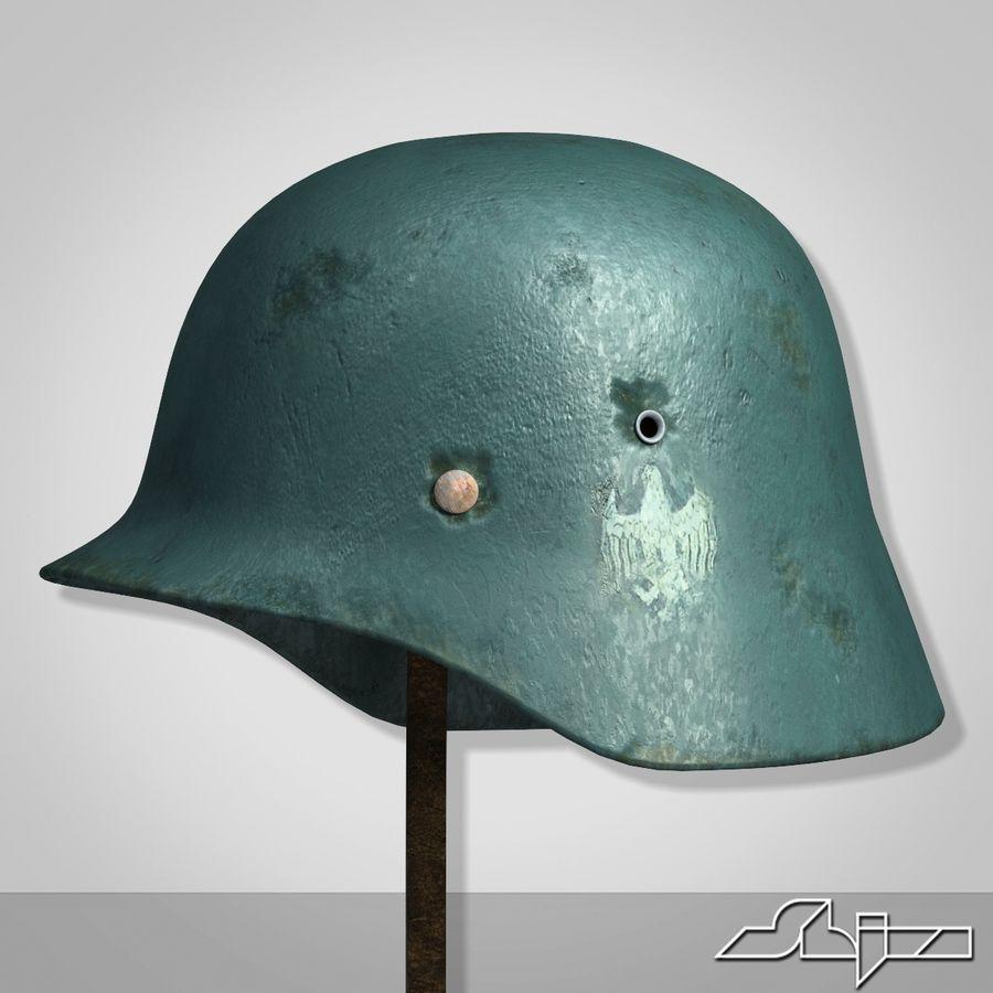 World War 2 German Helmet royalty-free 3d model - Preview no. 1