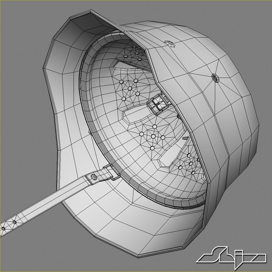 World War 2 German Helmet royalty-free 3d model - Preview no. 11