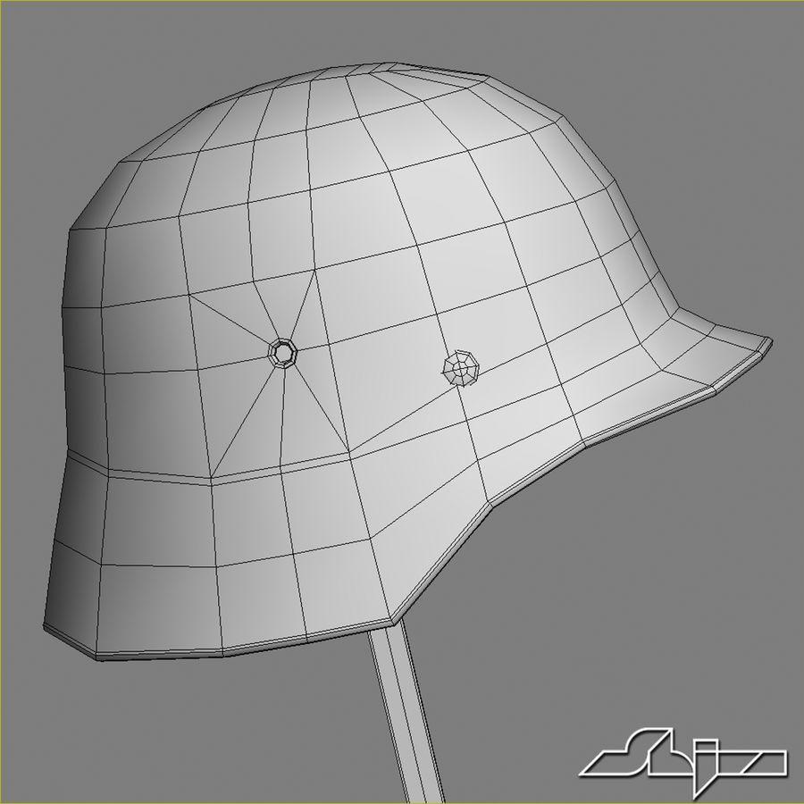 World War 2 German Helmet royalty-free 3d model - Preview no. 10