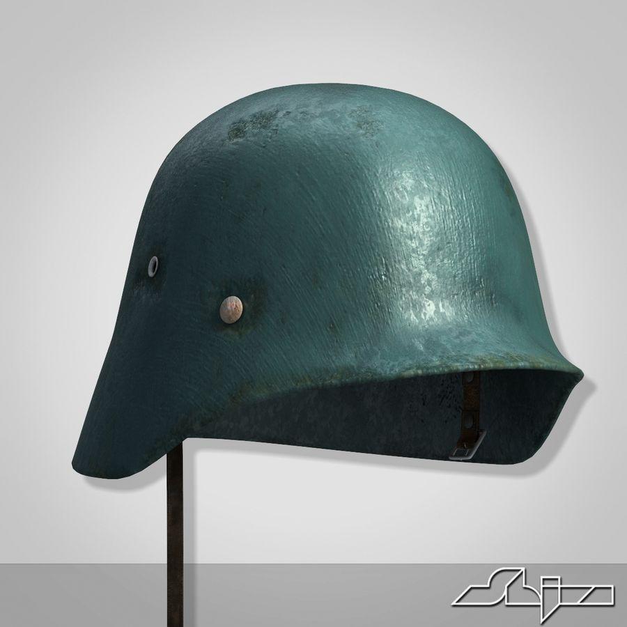 World War 2 German Helmet royalty-free 3d model - Preview no. 3