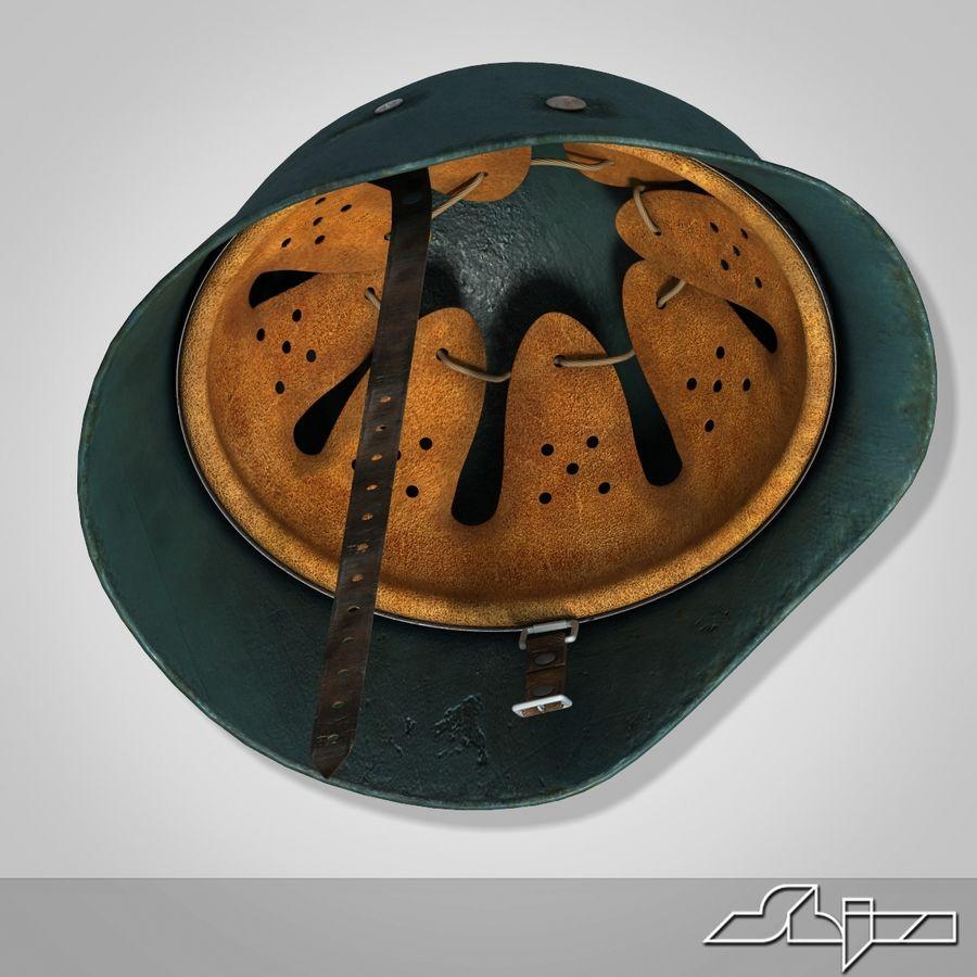 World War 2 German Helmet royalty-free 3d model - Preview no. 6