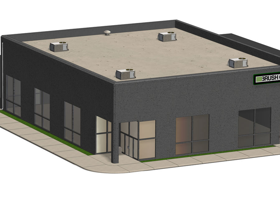 Small Warehouse Office Building 3d Model 29 Ige Obj Stl Wrl Sldas Unknown Free3d