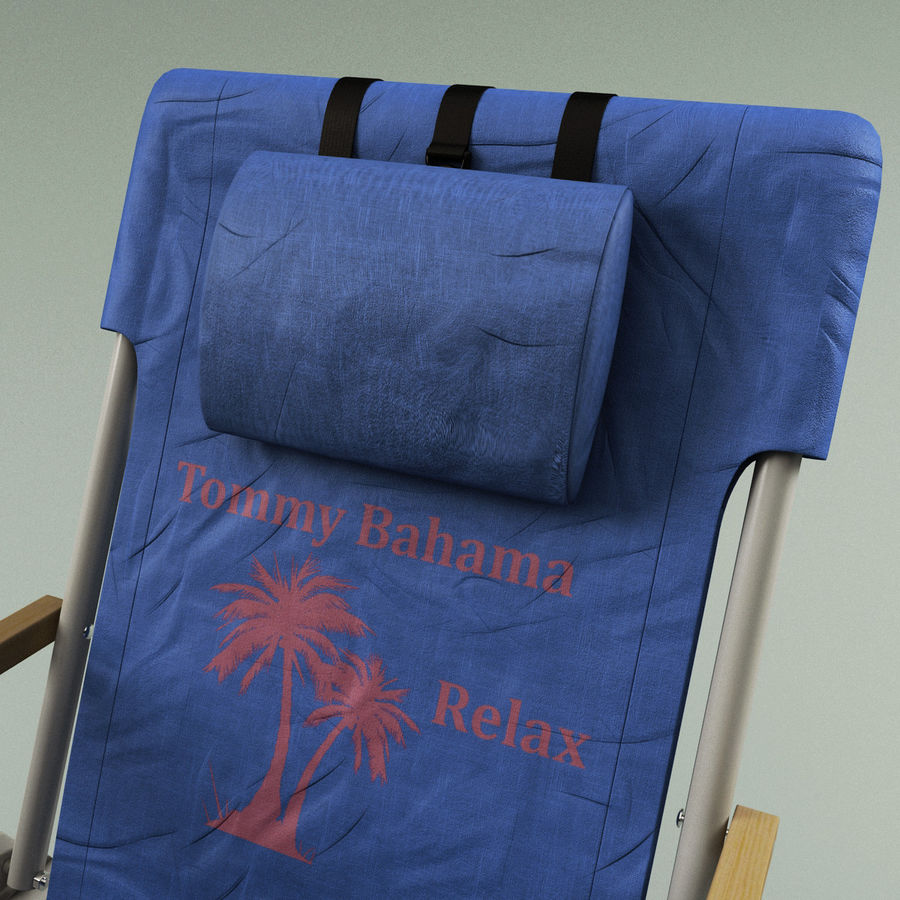 Campingstol Tommy Bahama royalty-free 3d model - Preview no. 8