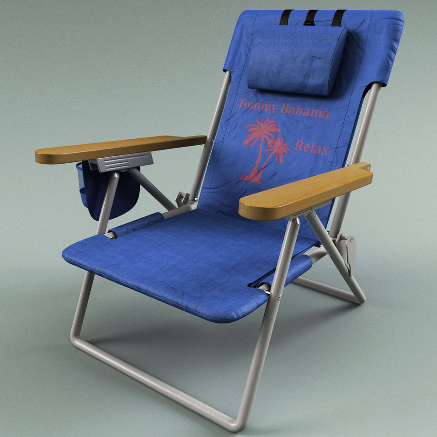 Campingstol Tommy Bahama royalty-free 3d model - Preview no. 3