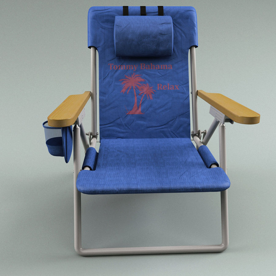 Campingstol Tommy Bahama royalty-free 3d model - Preview no. 2
