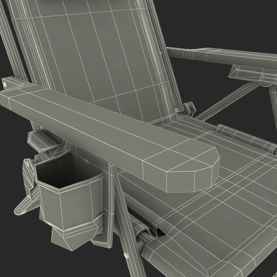 Campingstol Tommy Bahama royalty-free 3d model - Preview no. 12