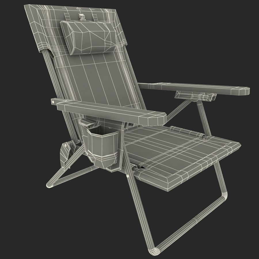 Campingstol Tommy Bahama royalty-free 3d model - Preview no. 10