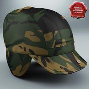 Camouflage Field Hat 3d model
