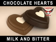 czekoladowe serca 3d model