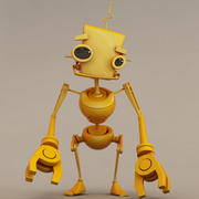 Gele robotpop 3d model