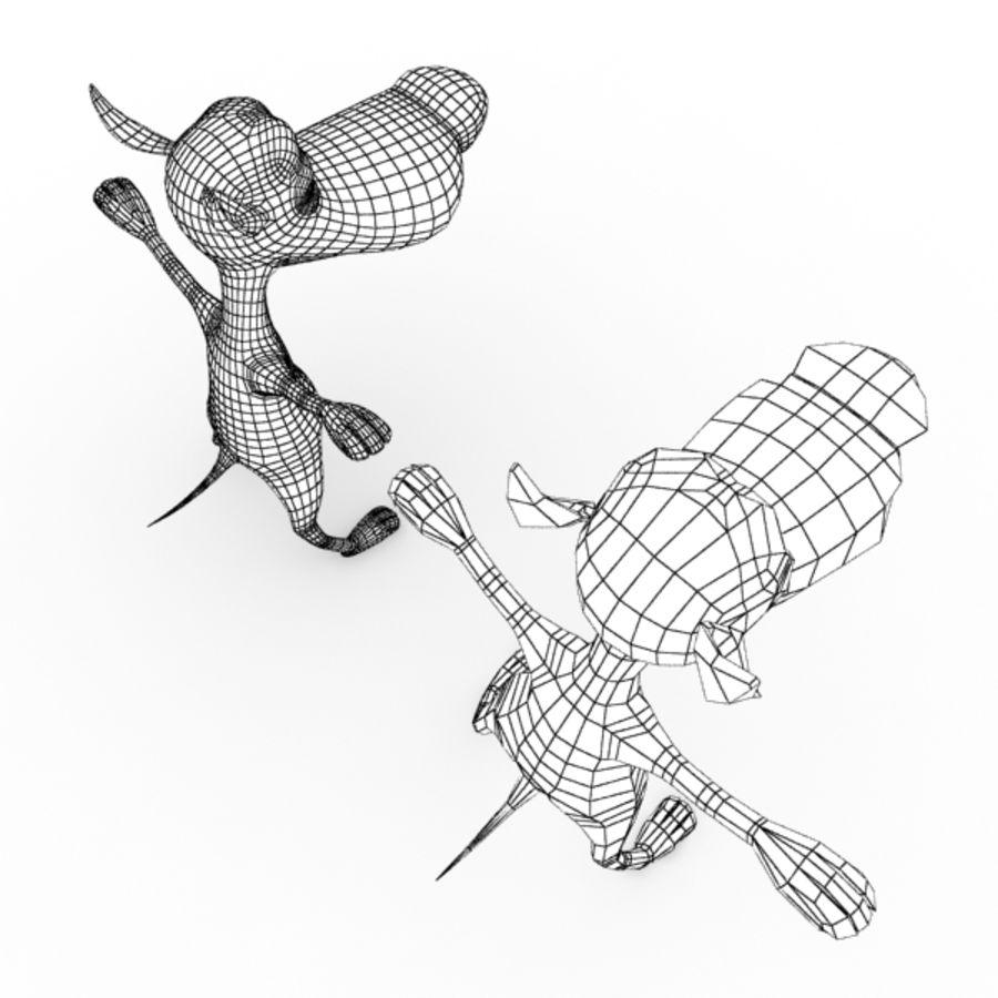 Perrito Personaje De Dibujos Animados Modelo 3d 46 Obj Ma