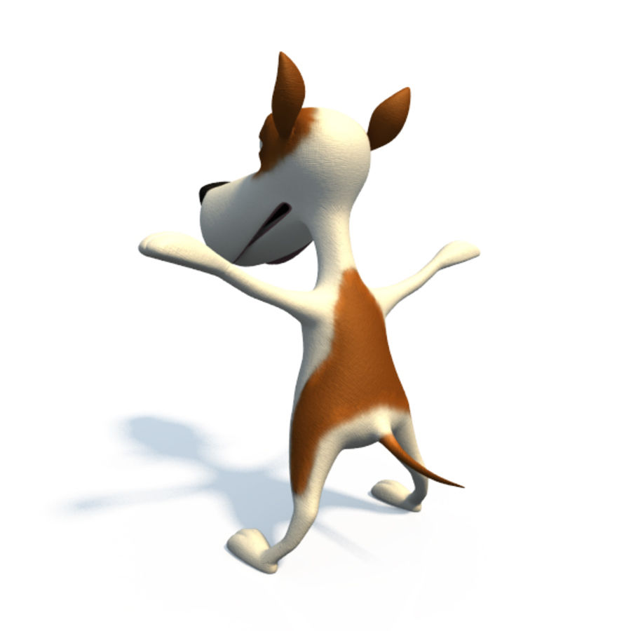 Doggy  (cartoon character) royalty-free 3d model - Preview no. 4
