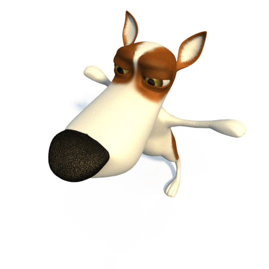 Doggy  (cartoon character) royalty-free 3d model - Preview no. 6