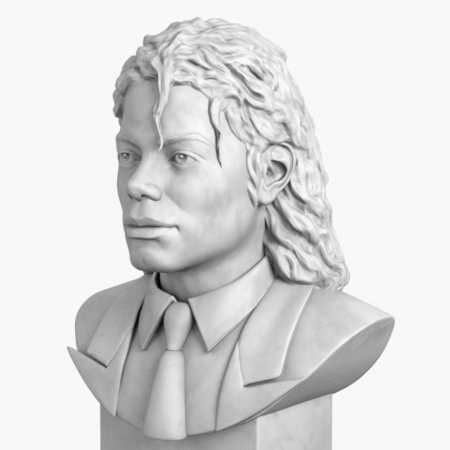 Michael Jackson Bust royalty-free 3d model - Preview no. 1