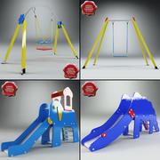 Kolekcja placów zabaw V4 3d model