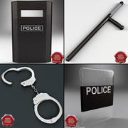 Collezione di equipaggiamenti della polizia 3d model