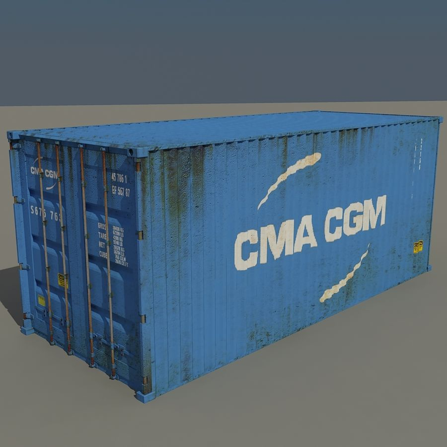 Cargo Containers Pack royalty-free 3d model - Preview no. 4