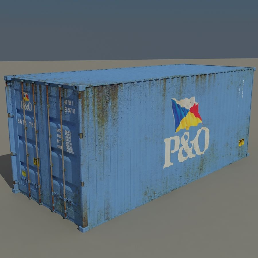 Cargo Containers Pack royalty-free 3d model - Preview no. 11
