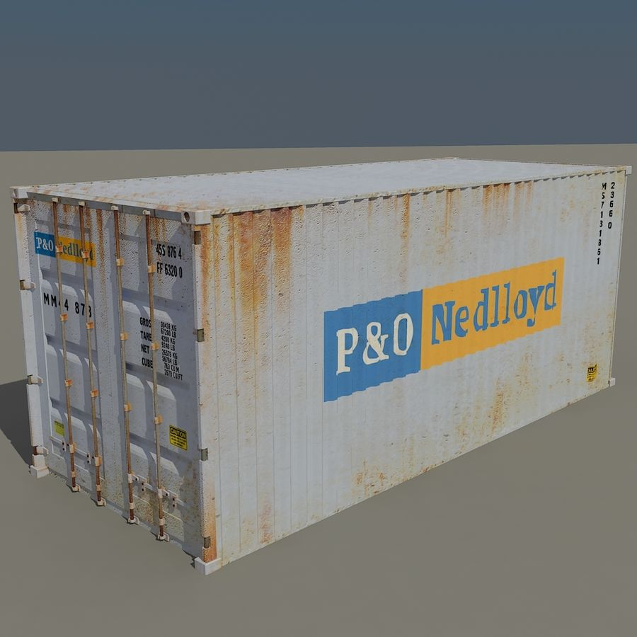 Cargo Containers Pack royalty-free 3d model - Preview no. 10