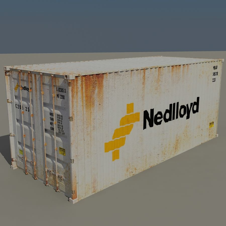 Cargo Containers Pack royalty-free 3d model - Preview no. 13