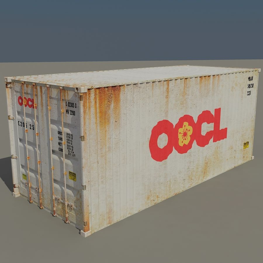 Cargo Containers Pack royalty-free 3d model - Preview no. 9