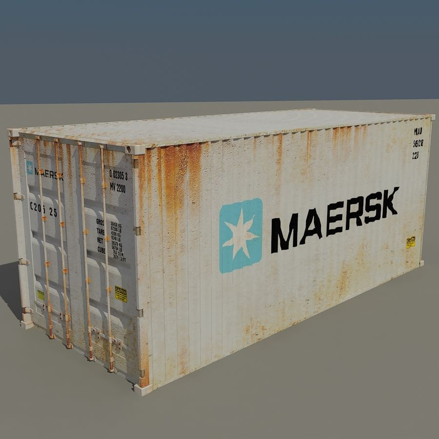Cargo Containers Pack royalty-free 3d model - Preview no. 2