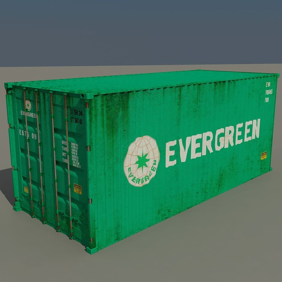 Cargo Containers Pack royalty-free 3d model - Preview no. 3