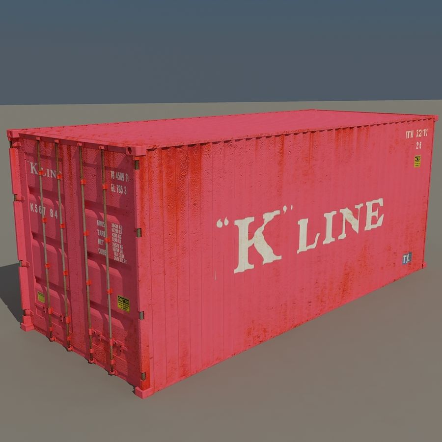 Cargo Containers Pack royalty-free 3d model - Preview no. 5