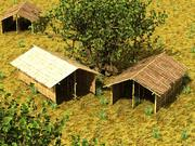 bamboo house textured 3d model