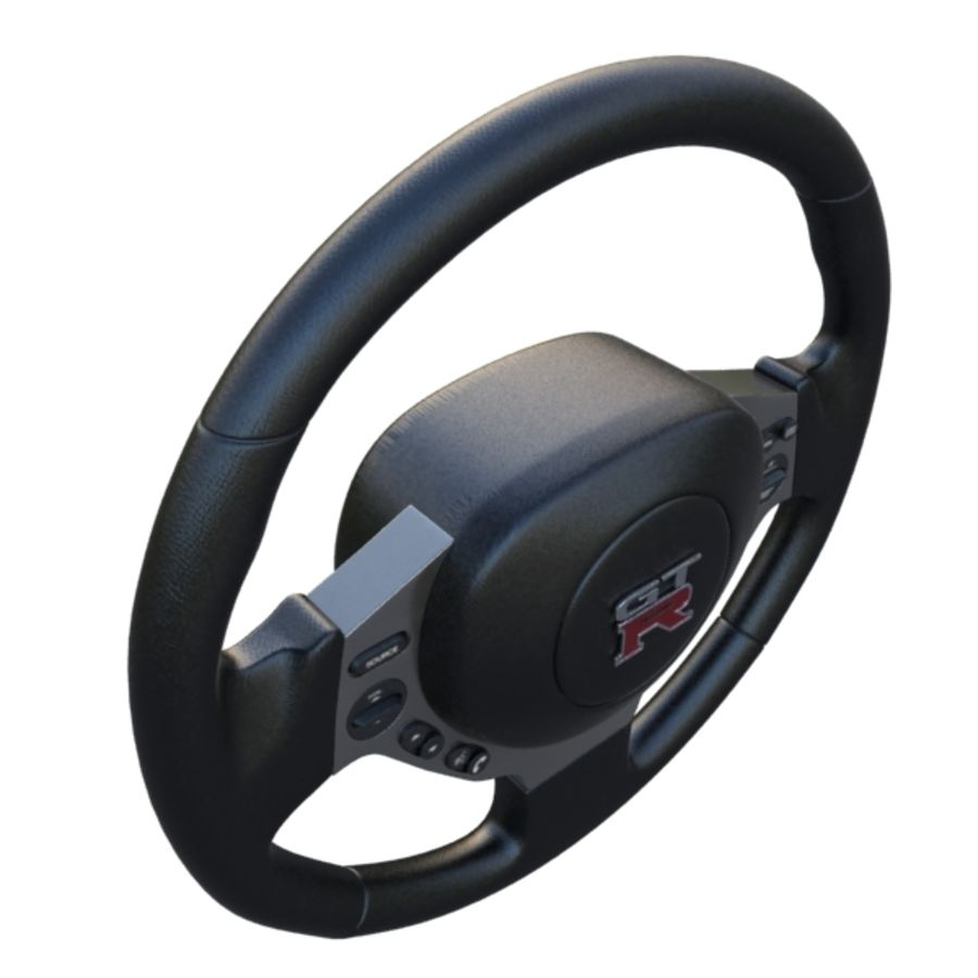 Steering Wheel Gtr royalty-free 3d model - Preview no. 7
