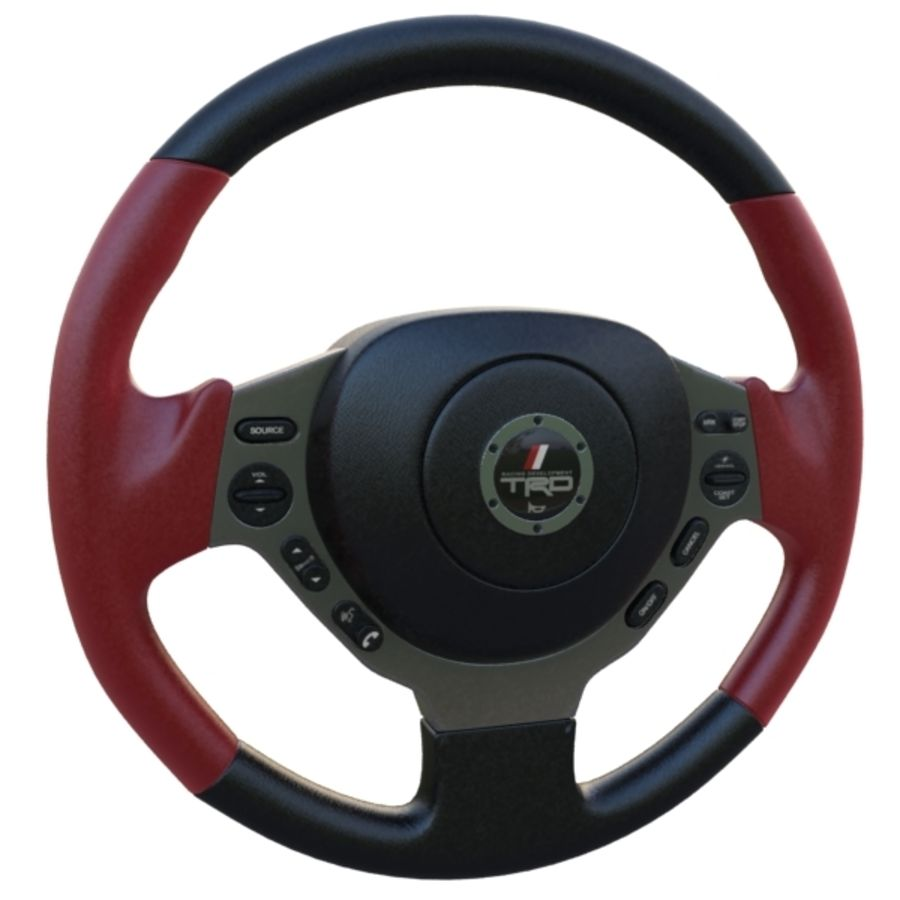Steering Wheel Gtr royalty-free 3d model - Preview no. 9