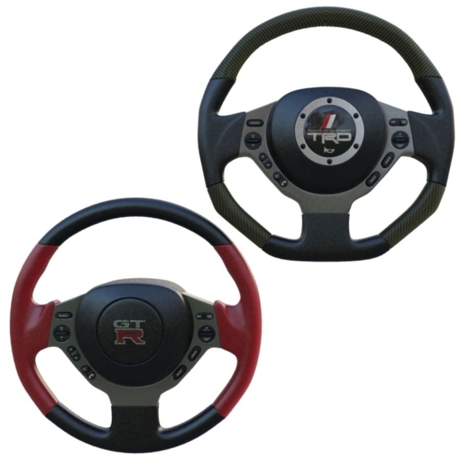 Steering Wheel Gtr royalty-free 3d model - Preview no. 1