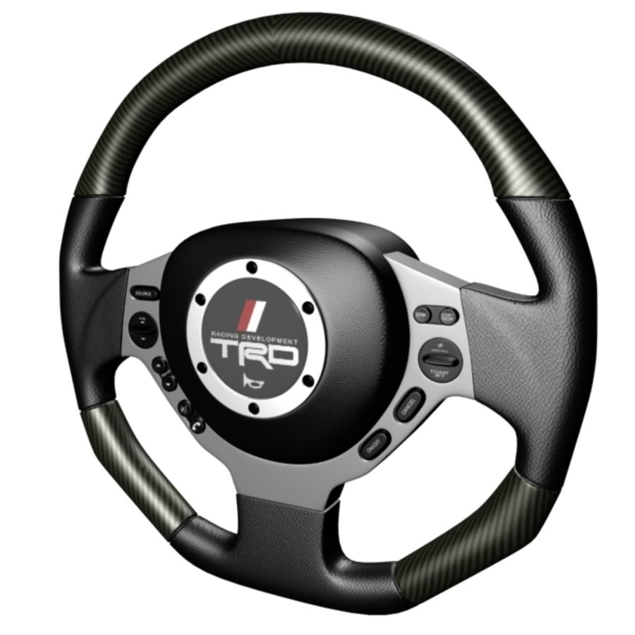 Steering Wheel Gtr royalty-free 3d model - Preview no. 14