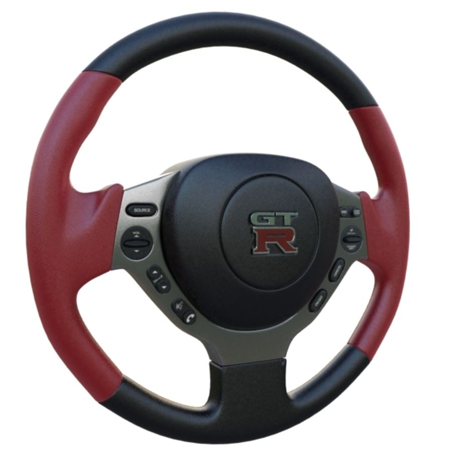 Steering Wheel Gtr royalty-free 3d model - Preview no. 4