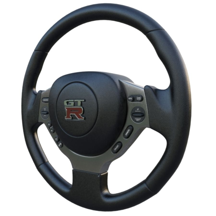 Steering Wheel Gtr royalty-free 3d model - Preview no. 2