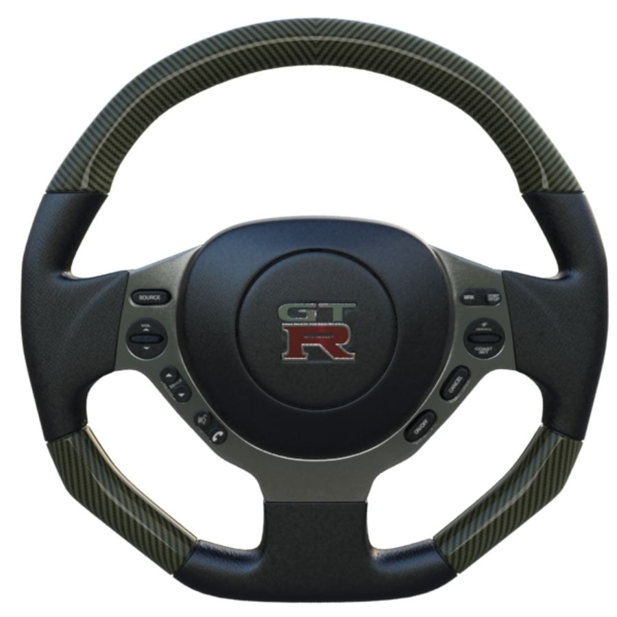 Steering Wheel Gtr royalty-free 3d model - Preview no. 3