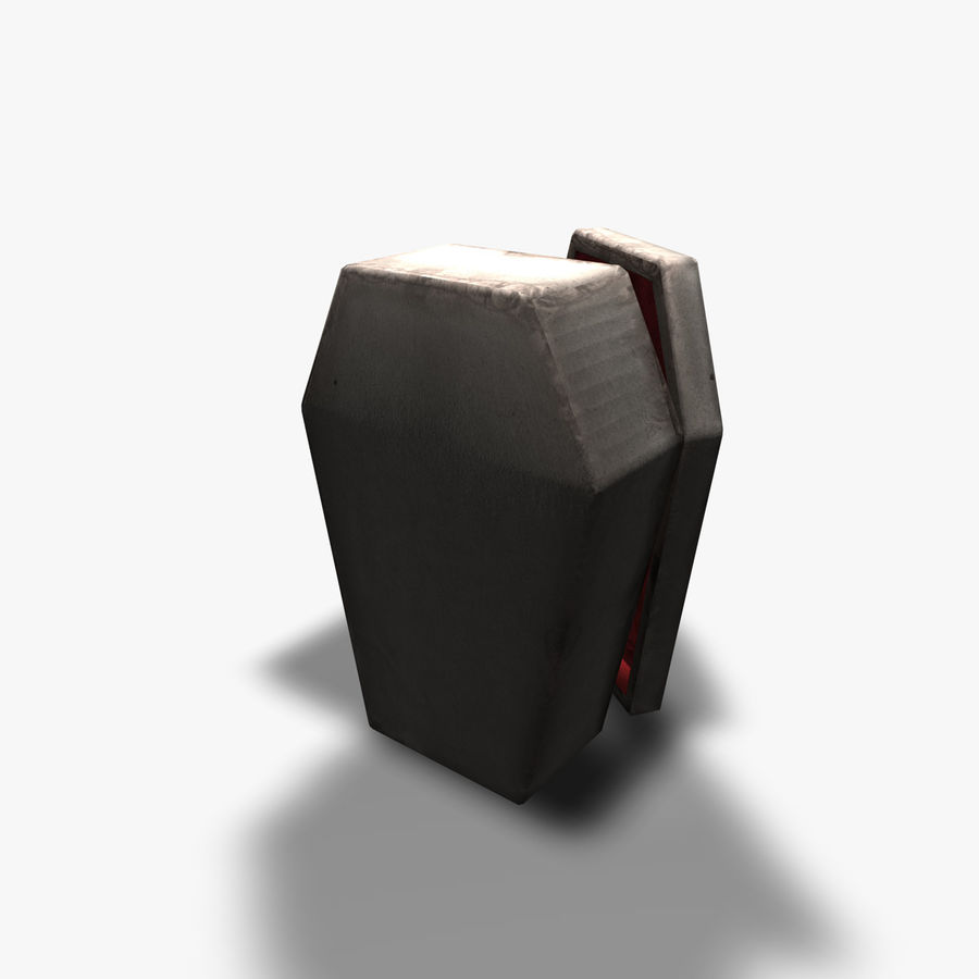 Coffin royalty-free 3d model - Preview no. 3