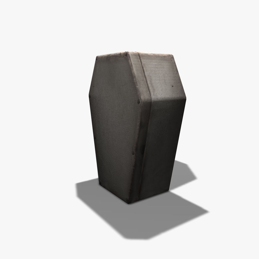 Coffin royalty-free 3d model - Preview no. 5