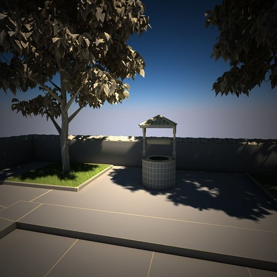 House With Swimming Pool royalty-free 3d model - Preview no. 19
