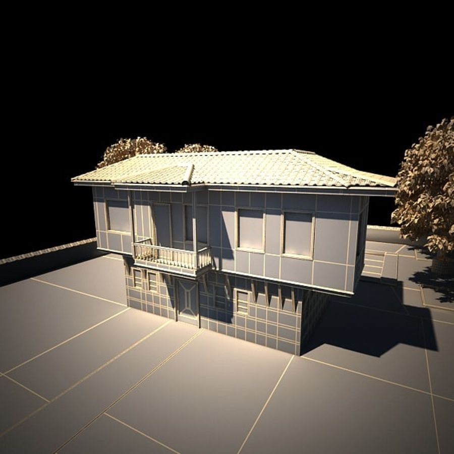 House With Swimming Pool royalty-free 3d model - Preview no. 23
